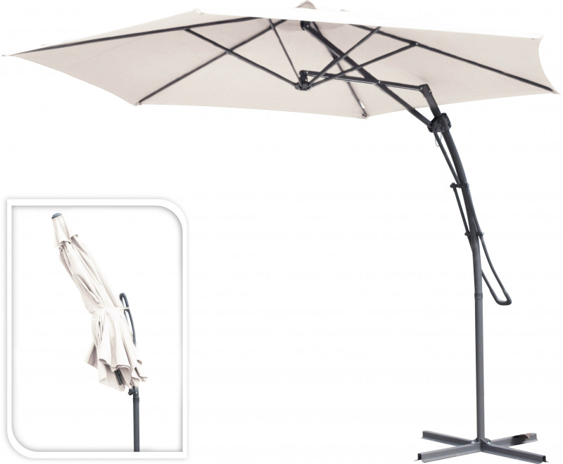 Hanging Push Up Umbrella including 4 bases