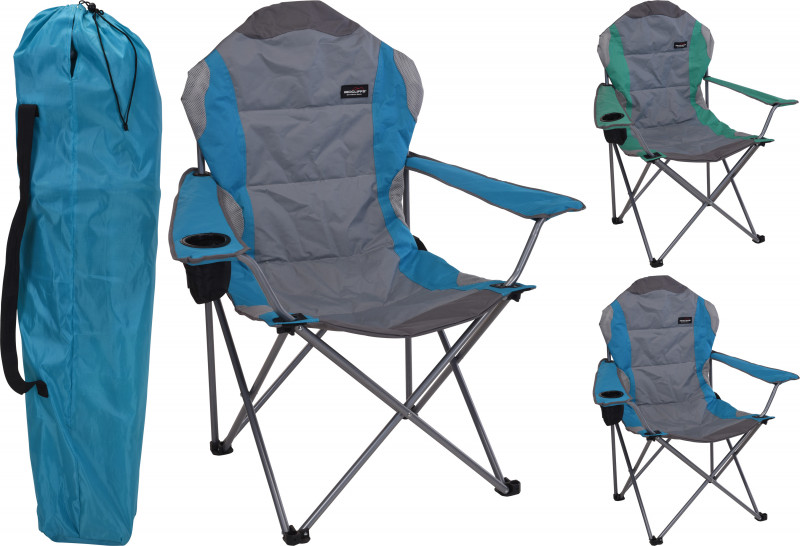 Jumbo Deluxe Camping Chair - Blue
