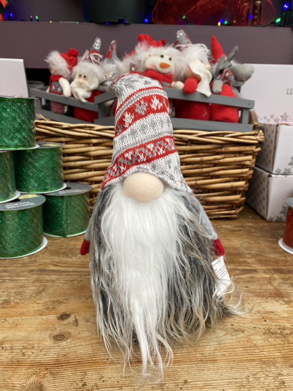 Santa Gonk Door Stops - Red, White and Grey photo