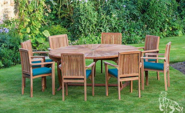 8 Seater Sunburst Table Set