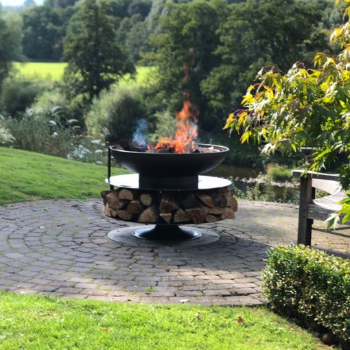 Ring Of Logs 90cm with Swing Arm BBQ Rack photo