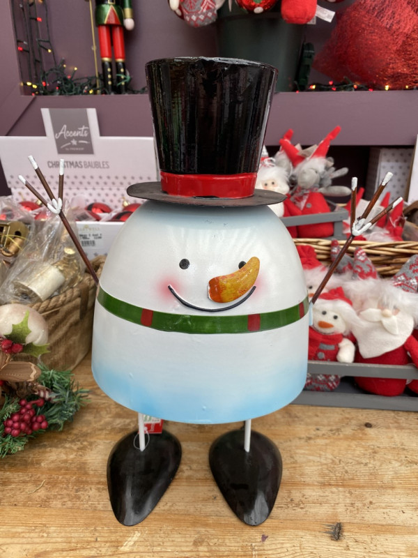 Christmas bobbin' snowman - Large photo