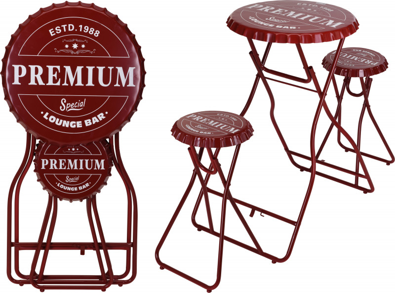 Foldable Bar Table with Stools photo