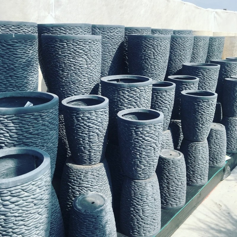 Dark Grey Pots