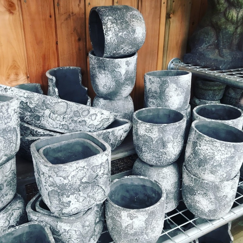 Grey Speckled Pots