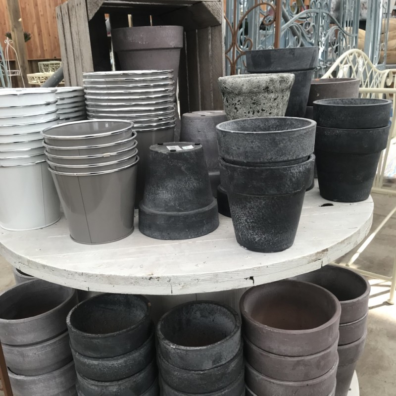 Grey and White Mixed Pots